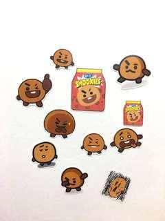 BT21 Shooky sticker pack 11pcs