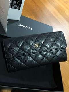 Chanel Long Caviar Wallet GHW