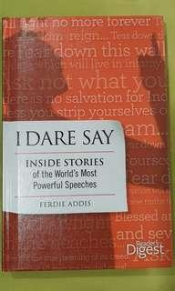 I dare say by Ferdie Addis