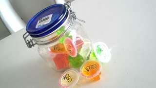 BN Air-tight Fido thick glass storage Jar