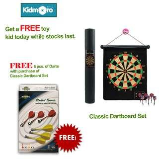 🚚 Classic Magnetic Dartboard with FREE extra 6 pcs Darts