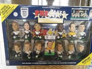 Special Edition Collectors Pack of England Team Soccer Figurines
