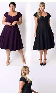 🚚 Women Plus Size Dress Black Purple