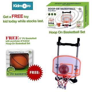 🚚 Indoor Basketball Hoop Set with FREE 5 inches Basketball