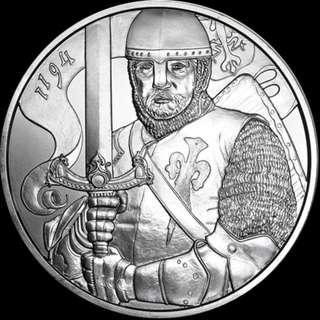 🚚 Silver 1oz 825th Anniv of the Austrian Mint Leopold BU