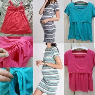 d98171856f091 Size L Jumpeatcry spring maternity mothercot nursing dress and top set