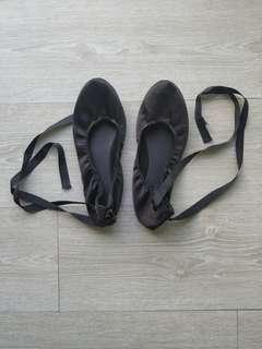 New Look Ballet flats black shoes UK9 #SparkJoyChallenge