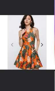 Size S Endina floral neoprene dress love bonito