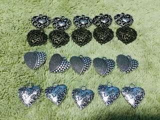 20 pieces assorted bracelet ♥️ pendants for diy bracelets
