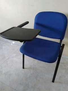 Chairs with flip tables.