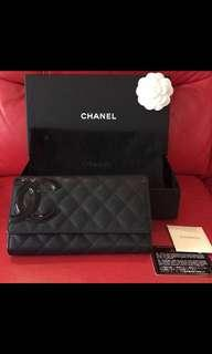 Authentic Chanel Cambon Long Flap Wallet