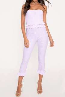8ac84431087d Pretty little thing pink gingham jumpsuit