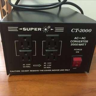 日本 Super CT-2000 變壓器