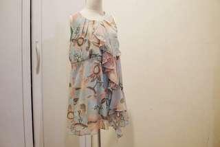 Hnm / hm / h&m pattern dress pastel