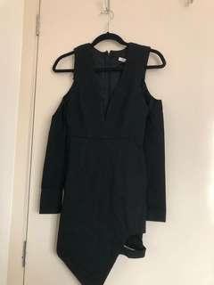 Black Low V Neck Dress