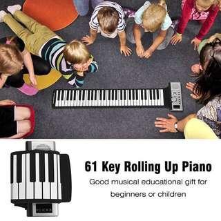 61 Keys  Portable roll up piano
