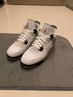 sports shoes e5bf2 eeca7 Air Jordan 4 White Cement GS US6  UK5.5  24CM