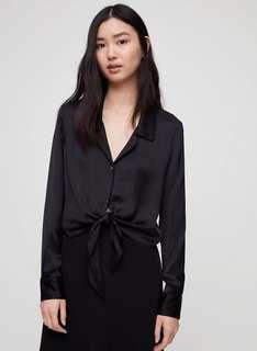 Aritzia peaufiner blouse size small black