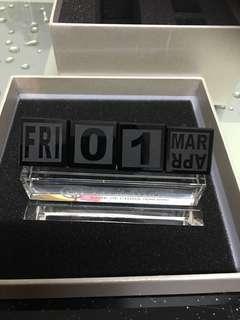 中銀座枱水晶月曆