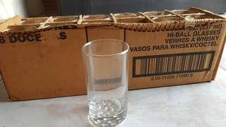 (SET OF 12) BNIB 237ml Hi-Ball glasses verres à whisky coctail glass cup