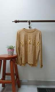 mustard flecked DAZED long sleeve xs
