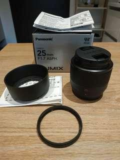Panasonic Lumix G 25mm f1.7