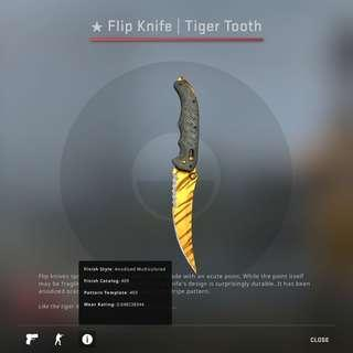 STEAM CSGO Flip Knife Tiger Tooth Factory New