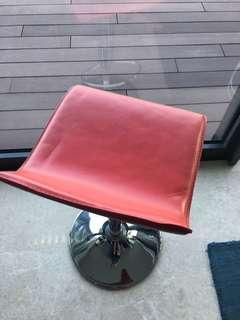 High chair (Red Leather) 3 pcs