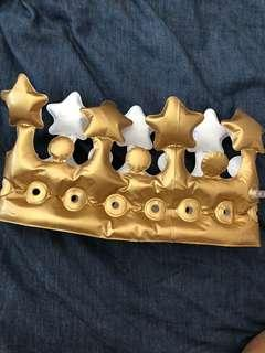 Crown party head accessory inflated