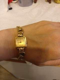 歐洲古董錶 瑞士制手動機械鍍金錶
