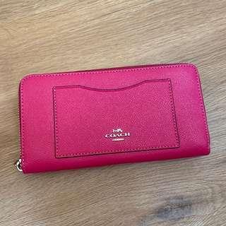 Coach Accordian Zip Long wallet - pink