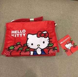 全新 Hello kitty 蘋果紅 側背包