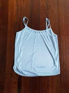 White silk-like camisole