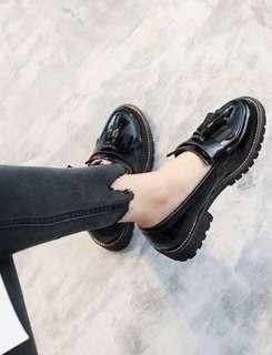 🚚 34號英倫風粗根小皮鞋