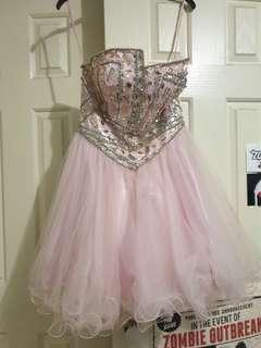 Pink diamonte bust women's formal dress. Price negotiable, just message me
