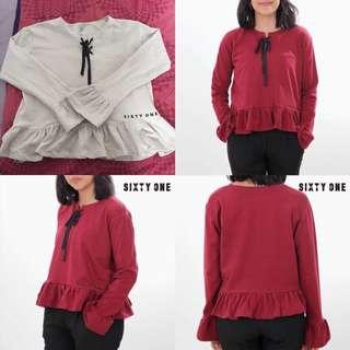 Top sweater blouse sixty one
