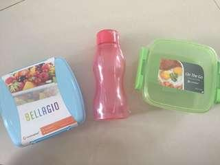 (Take All) 2 Pcs Lunch Box + 1 PCs bottle