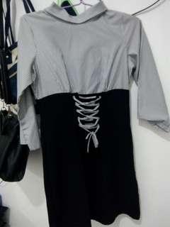 #maudompet Black and White Dress