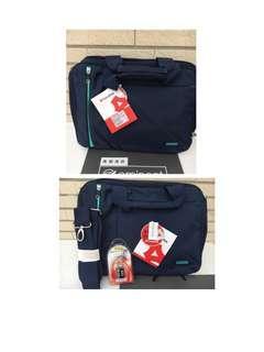 🚚 (MiQi)《降價促銷》正版萬國通路17吋公事包 筆電包 藍色 黑色