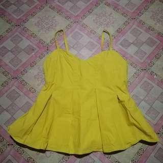 Yellow Peplum Top