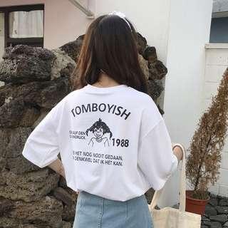 tomboyish Korean Ulzzang Top