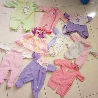 Baby alive baby doll cloth