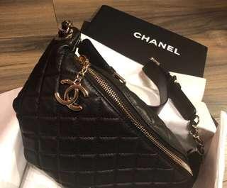 Chanel 腰包 保卡26開 專櫃全配含購證正本(高價精品附購證 對您我都有保障)