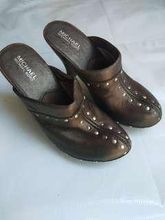 Michael Kors Studded Leather Mules