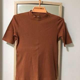 Brown turtleneck