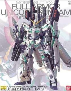Bandai Mg 1/100 Unicorn gundam full armor ver.ka