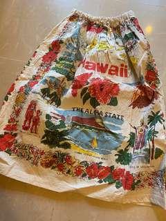 🌸日本設計花花半截裙 人手染製🌼