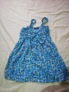Blue Floral Summer Top