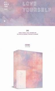 BTS love yourself DVD and T money card