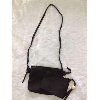 2 Piece Sling Bag & Pouch Set